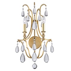 Hudson Valley Lighting Crawford Aged Brass Sconce