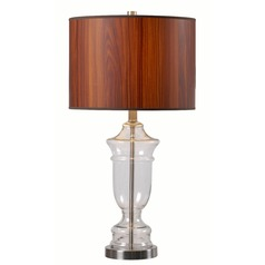 Kenroy Home Bray Stainless Steel Table Lamp with Drum Shade