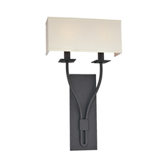 Sconce Wall Light with White Shades in Federal Bronze Finish