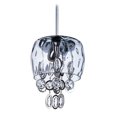 Crystal Mini-Pendant Light with Clear Glass