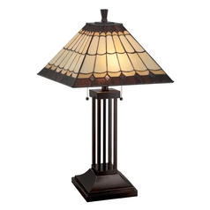 Lite Source Lighting Arty Dark Bronze Table Lamp with Square Shade