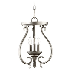 Quorum Lighting Randolph Classic Nickel Pendant Light