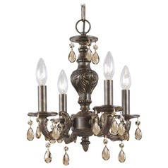 Crystorama Paris Market 4-Light Crystal Chandelier in Venetian Bronze