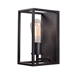 Industrial Edison Bulb Sconce Graphite 4.75-Inch by Kenroy Home Lighting