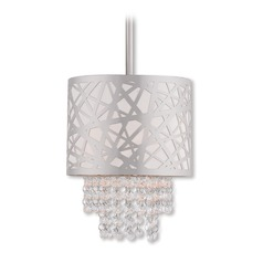 Livex Lighting Allendale Polished Chrome Mini-Pendant Light with Drum Shade