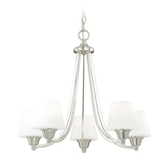 Calais Satin Nickel Chandelier by Vaxcel Lighting