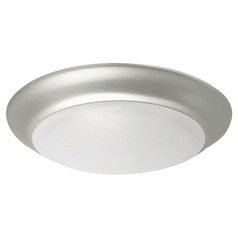 Brushed Polished Nickel LED Flushmount Light 3000K 1100LM