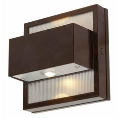 LED Outdoor Wall Light in Bronze Finish