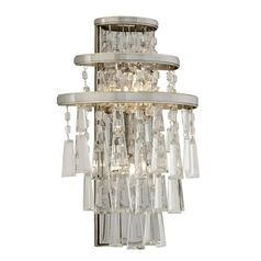 Corbett Lighting Illusion Silver Leaf Sconce