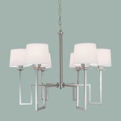 Norwell Lighting Maya Brush Nickel Chandelier