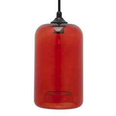 Nuevo James Mini-Pendant with Red Shade