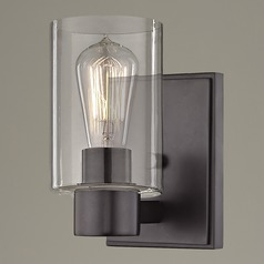 Clear Glass Sconce Bronze