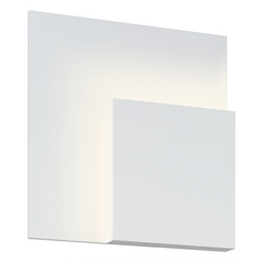 Sonneman Lighting Corner Textured White LED Sconce