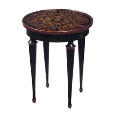 Sterling Lighting Hand Painted Ebony Accent Table