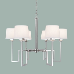 Norwell Lighting Maya Polished Nickel Chandelier