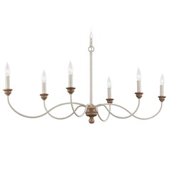 Feiss Lighting Hartsville Chalk Washed / Beachwood Chandelier