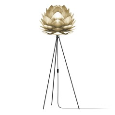 UMAGE Black Floor Lamp with Abstract Shade
