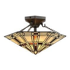 Lite Source Mircea Dark Bronze Semi-Flushmount Light