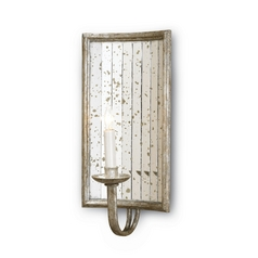 Modern Plug-In Wall Lamp in Harlow Silver Leaf Finish