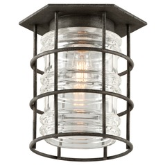 Troy Lighting Brunswick Aged Pewter Close To Ceiling Light