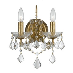 Crystorama Lighting Filmore Antique Gold Sconce