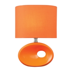 Lite Source Lighting Hennessy II Orange Table Lamp with Oval Shade