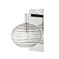 Mid-Century Modern LED Sconce Polished Nickel Breton by Hudson Valley Lighting
