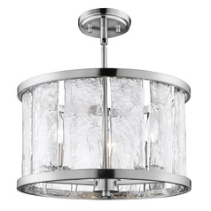 Lite Source Glennis Brushed Nickel Semi-Flushmount Light