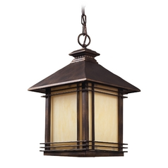 Outdoor Hanging Light in Hazlenut Bronze Finish