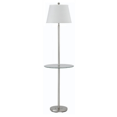 Gallery Glass Tray Floor Lamp with Shade