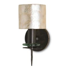 Currey and Company Lighting Bronze Gold / Natural Sconce