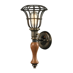 Sconce Wall Light in Vintage Rust Finish