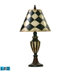 Dimond Lighting Black, Antique White LED Table Lamp with Empire Shade