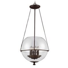 Sea Gull Lighting Havenwood Autumn Bronze Pendant Light with Globe Shade