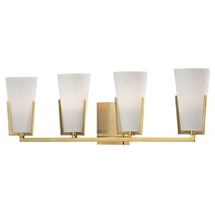 Upton 4 Light Bathroom Light - Aged Brass