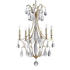 Hudson Valley Lighting Crawford Aged Brass Chandelier