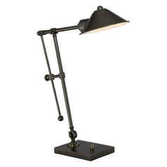 Quoizel Lighting Quoizel Portable Lamp Rich Bronze Table Lamp with Conical Shade