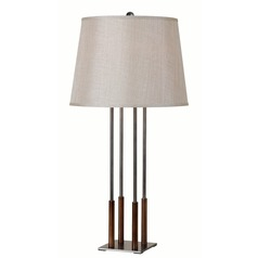 Kenroy Home on Cue Copper Bronze and Graphite Table Lamp with Empire Shade