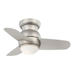 26-Inch Minka Aire Spacesaver Brushed Steel LED Ceiling Fan with Light