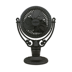 Table Top Desk Fan in Black Finish
