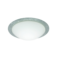 Flushmount Light White Glass by Besa Lighting