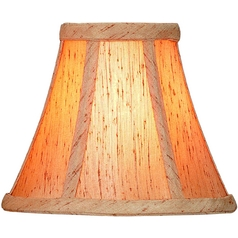 Copper Jacquard Bell Lamp Shade with Clip-On Assembly