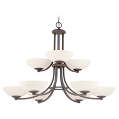 Dolan Designs Rainier 2-Tier 9-Light Chandelier in Bolivian Bronze