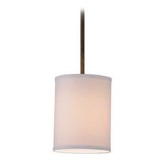 Design Classics Lighting Bronze Drum Mini-Pendant Light with White Shade DCL 6542-604 SH7482