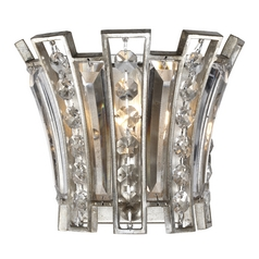 Feiss Lighting Soros Ebonized Silver Leaf Sconce