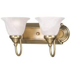 Livex Lighting Belmont Antique Brass Bathroom Light