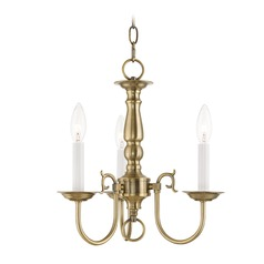 Livex Lighting Williamsburg Antique Brass Mini-Chandelier
