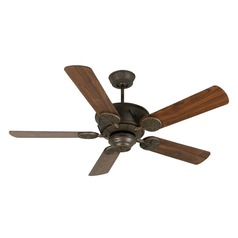 Craftmade Lighting Chaparral Aged Bronze Textured Ceiling Fan Without Light