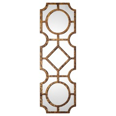 Art Deco Decorative Mirror Wood Lupano by Uttermost Lighting