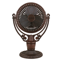 Table Top Desk Fan in Rust Finish